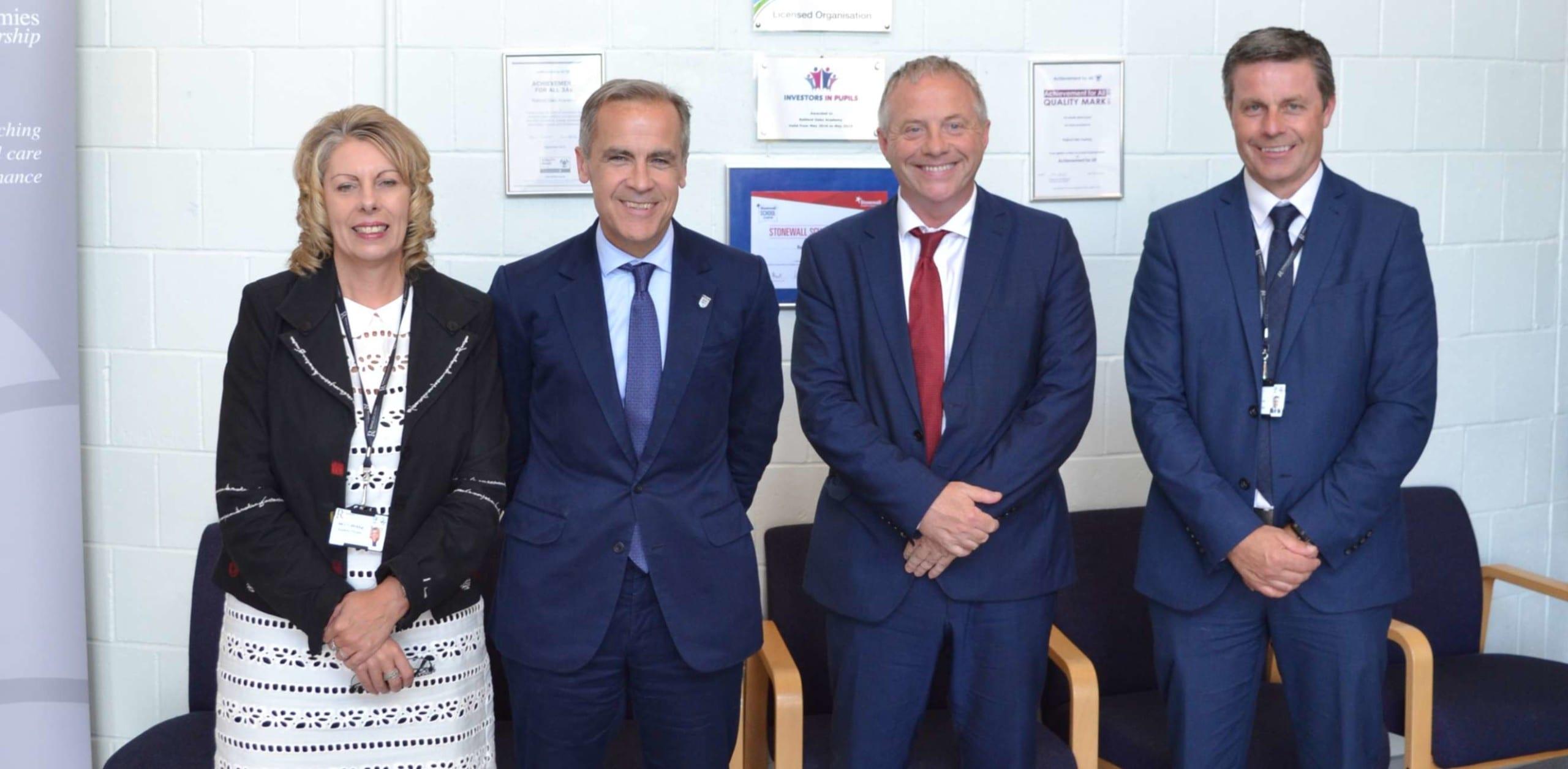 Bank of England Governor visits Retford Oaks Academy